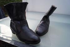 SPIESS Damen Winter Schuhe Stiefel Boots gefüttert Gr.7,5 41 schwarz Leder TOP