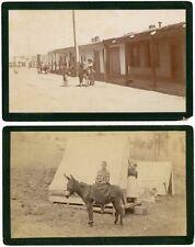 W.H. Jackson's Trip into Mexico, 2 Oversize Cabinet Photos, Circa 1882-92