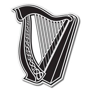 Celtic Harp Lyre Vinyl Sticker - SELECT SIZE
