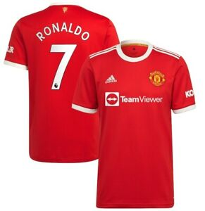 Adidas Cristiano Ronaldo Red Manchester United 2021/22 Home Player Jersey