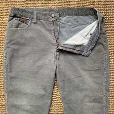 Wrangler Texas Stretch Corduroy Jeans Cords Light Grey W36 L32
