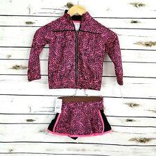 Carters 3t Jacket Skort Outfit Skirt Pink Black Toddler Girls