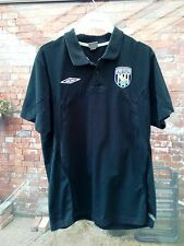 WEST BROMWICH ALBION FC UMBRO BLACK POLO SHIRT SIZE XL VGC