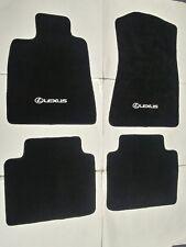 Fit 06-11 Lexus GS300 GS350 Black Nylon Floor Mats Carpet W/ Emblem