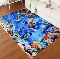 3D Living Room Carpet Rug Door Mat Floor Mat Deer Dolphin Starfish Carpet New