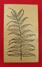 FERN LEAF 1998 BY ME AND CARRIE LOU UNUSED RUBBER STAMP