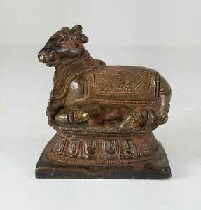 Antique Tibetan Chinese Indian Bronze Bull Figure Nandi Buddhist Hindu