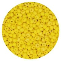 Czech Glass Seed Beads Size 11/0 Matte Rainbow Yellow