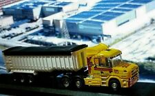 N Scale Truck, Tractor/ trailer- yellow, white
