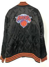 New York Knicks Mens XL Adidas Varsity Jacket Quilted Satin Bomber Embroidered