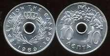 GRECE  10 lepta  1969  ( SPL )
