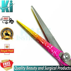 Professional Hairdressing Salon Barber Hair Cutting Styling Pink Scissor Shear