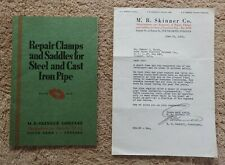 1935 M B SKINNER GAS & OIL CLAMPS & SADDLES PRESIDENT SIGN LETTER SOUTH BEND IN