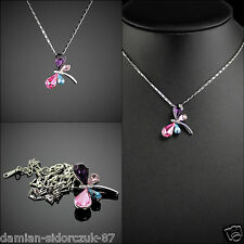 Swarovski ElementOriginal Design Silber Classic Halskette Libelle Kristall 45