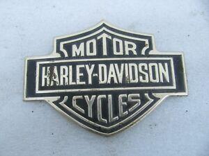 Harley Davidson Sissybar Backrest Emblem Badge Shovelhead Low Rider Sturgis