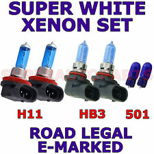TOYOTA AVENSIS ESTATE 2009+  SET OF  H11 HB3 501 XENON LIGHT BULBS