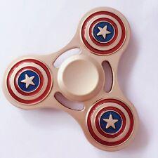 Gold Captain America Hand Spinner Tri Fidget Spinner Focus Keep Toys Avengers