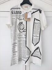 JOHN GALLIANO Studded Iconic 'Gazette' Newspaper Print T-shirt - Made In Italy