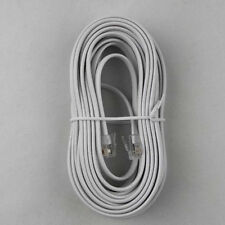 25 FT Telephone Line Cord Premium Quality Phone Foot Replacement White B2