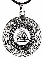 Nr 216: Wotansknoten Anhänger 925 Silber Keltenknoten Runen keltische Knoten