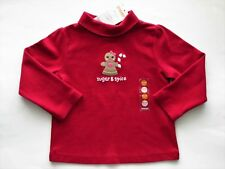 NWT Gymboree Girls Cozy Owl Red Sugar & Spice Gingerbread Girl Top Size 2T