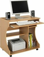 New Design Curved Easy Move & Wire Access Computer Desk Trolley-Choice of Colour
