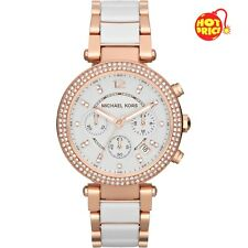 NEW GENUINE MICHAEL KORS MK5774 WHITE ROSE GOLD 'PARKER' LADIES WATCH UK GIFT