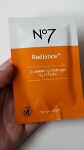 No7 Radiance+ llluminating Hydrogel Eye Masks 3g 1 Pair BN&S Free P&P