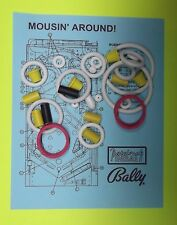 1989 Bally / Midway Mousin' Around! pinball rubber ring kit