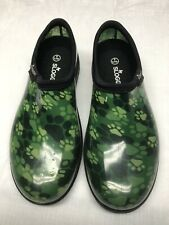 Sloggers Women's Slip On Garden Shoes Green Paws Size 8 Made in USA