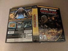 STAR WARS EMPIRE AT WAR FORCES OF CORRUPTION EXPANSION PC GAME EX+NM COMPLETE!