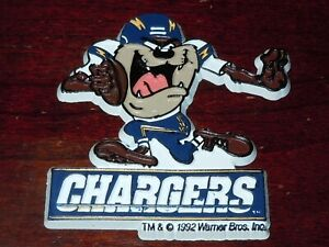 TAZ SAN DIEGO CHARGERS LOONEY TUNES Vintage NFL Football MAGNET Standings Board