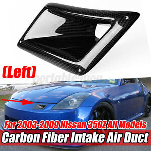 Real Carbon Fiber Left Bumper Air Vent Intake Duct FOR NISSAN 350Z Z33 2003-2009