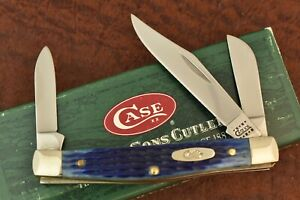 CASE XX MADE IN USA ROGERS BLUE BONE STOCKMAN KNIFE NICE 6344 SS 2000 (8239)