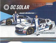 "2018 KYLE LARSON & JAMIE MCMURRAY ""DC SOLAR #1/42 NASCAR MONSTER ENERGY POSTCARD"
