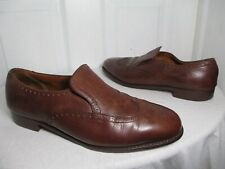 7fe73d63524 BROOKS BROTHERS PEAL   CO MENS BRN LEATHER WINGTIP LOAFERS US 9½ MADE IN  ENGLAND