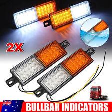 2x LED Bullbar Indicator Lights Front Park DRL Amber For ARB TJM Side Marker 12V