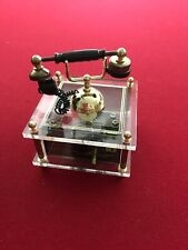 Vintage Musical Telephone Wind Up Music Box Plays Love Story Theme 1989