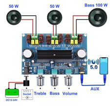 More details for bluetooth hifi power subwoofer 2.1 channel stereo audio amplifier board tpa3116
