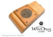 WILD DOG PUP STOMP BOX AUSTRALIAN MADE BAMBOO TIMBER WOODEN COMPACT STOMPBOX