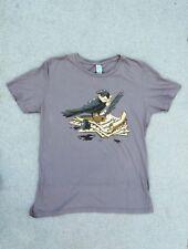 Edgar Allan Poe Raven w/Quill Poet T-shirt Size Medium Shirtwoot Gray Cotton