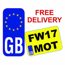 GB Euro Europe Motorbike Number Plate Sticker Vinyl Stickers European