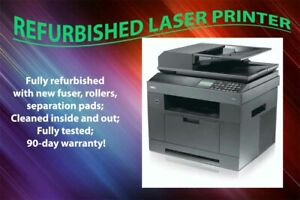 Renewed Dell 2335DN 2335 Laser Printer Copier Fax Scanner 01NCHC With Existin...