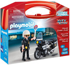 Playmobil City Action Police Officer + Motorcycle Figures Collectable Carry Case