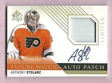 Anthony Stolarz Philadelphia Flyers 2015-16 SP Authentic Patch Auto 007/100