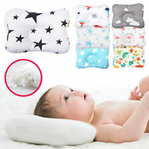 Newborn Baby Infant Pillow Breathable Positioner Prevent Flat Head Anti Roll