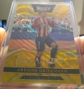 2016-17 Panini Select Equalizers Gold Antoine Griezmann 10/10.