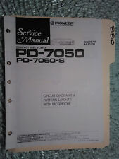Pioneer pd-7050 s service manual original repair book stereo cd player