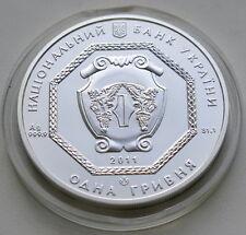 Ukraine 1 UAH 2011 Archangel Michael 1 OZ Silver Erzengel Silber