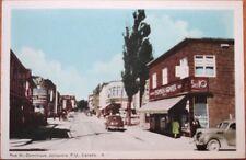 Jonquiere, Quebec 1930 Postcard: Rue St. Dominique - Canada